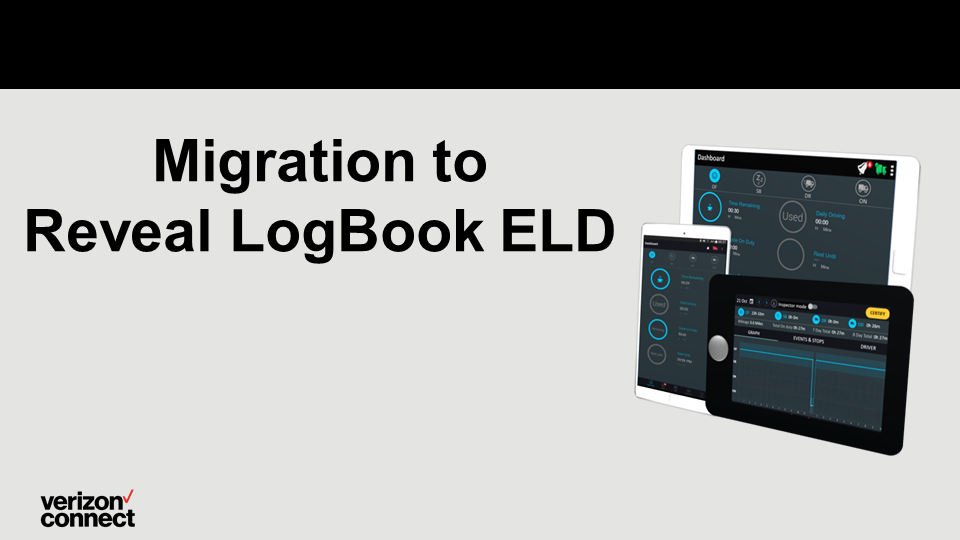 Migration to Reveal LogBook ELD