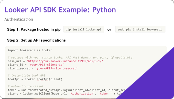 The Looker API