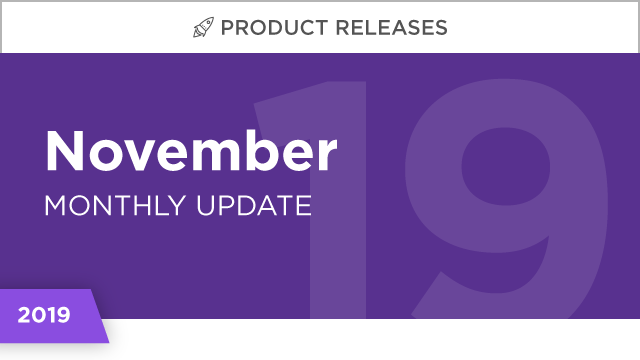 Product Releases: November 2019