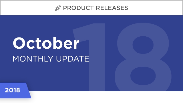Product Releases: October 2018