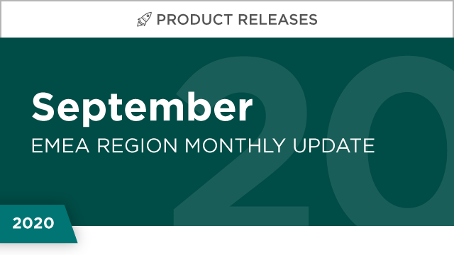 Product Releases: September 2020 (EMEA)
