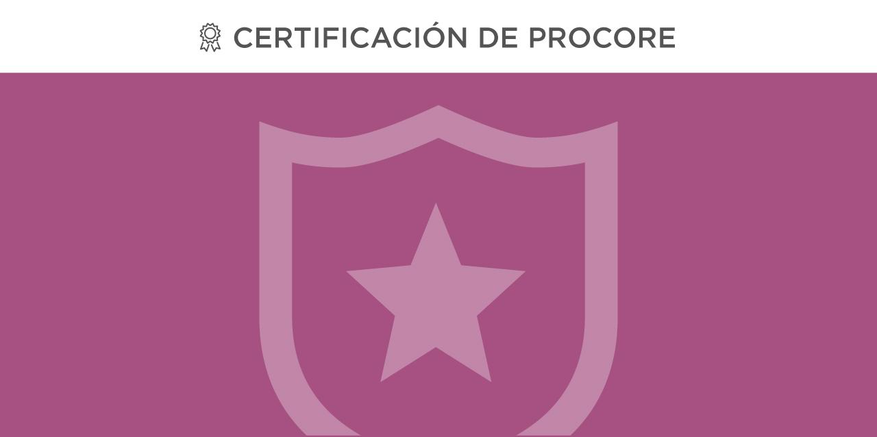 Administrador de Procore Certificación