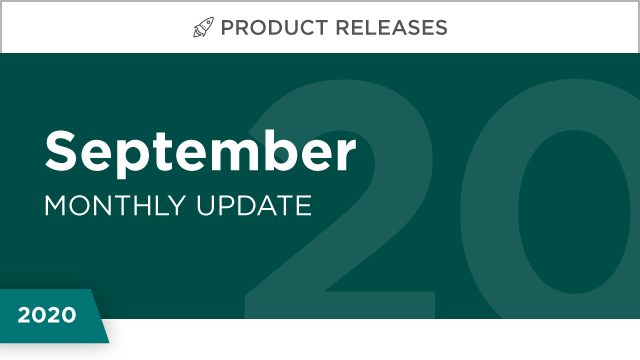 Product Releases: September 2020