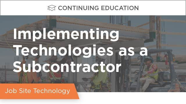 Implementing Technologies as a Subcontractor