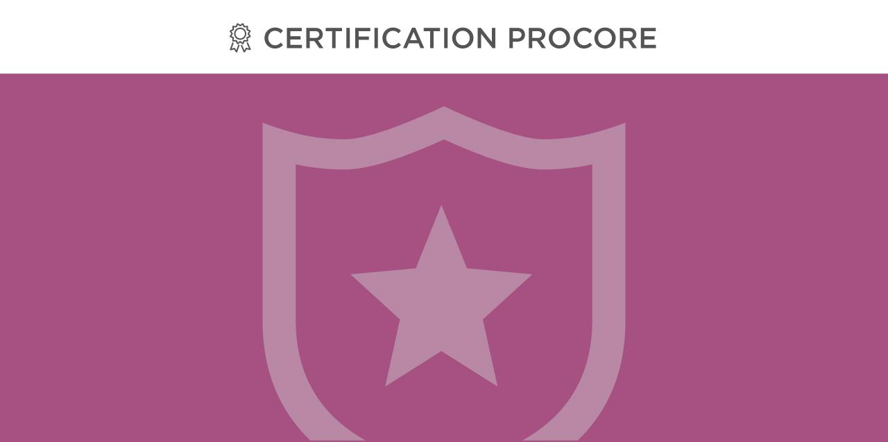 Certification Procore Admin