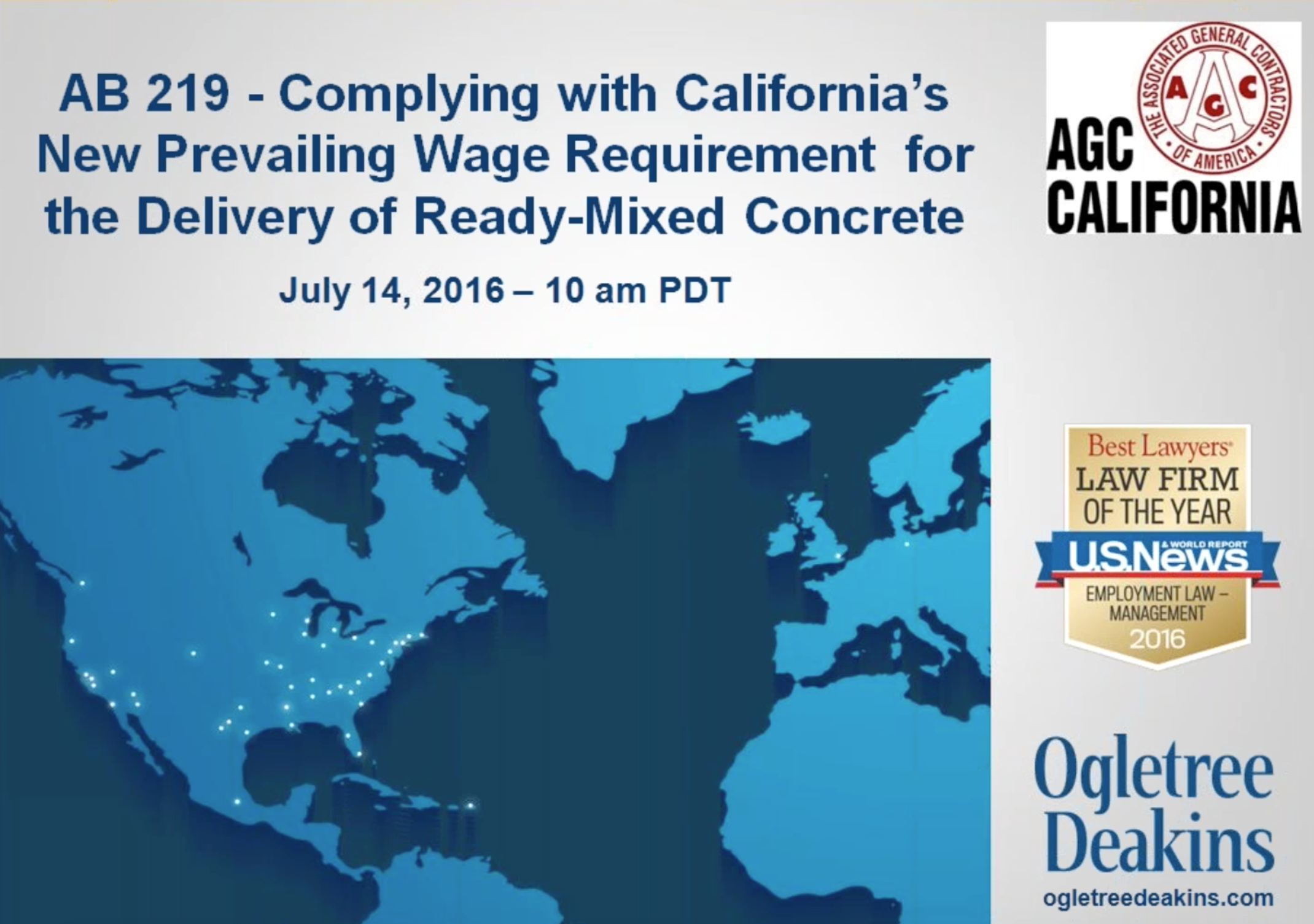 AB 219 - Complying with California's New Prevailing Wage Requirement for the Delivery of Ready-Mixed Concrete
