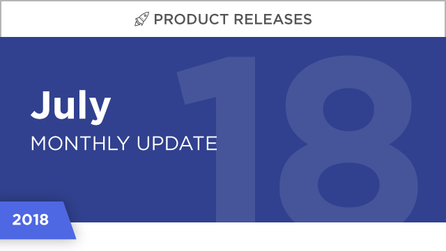 Product Releases: July 2018