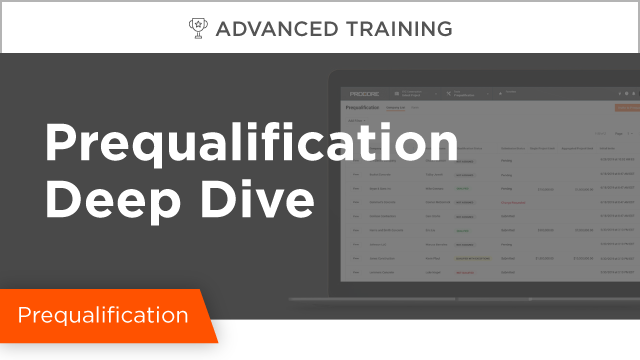 Prequalification Deep Dive
