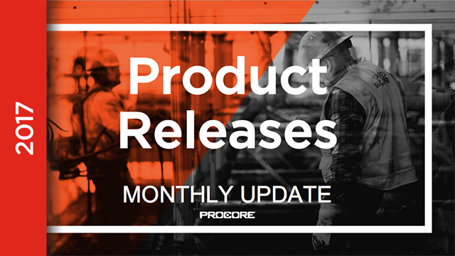 Product Releases: April 2017