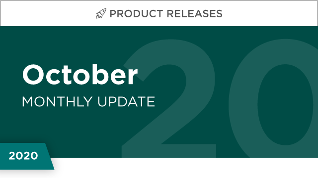 Product Releases: October 2020
