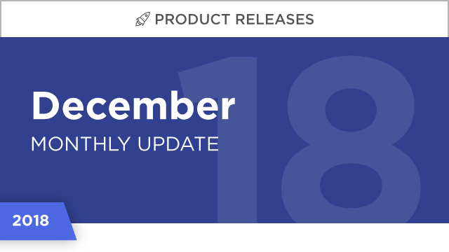 Product Releases: December 2018