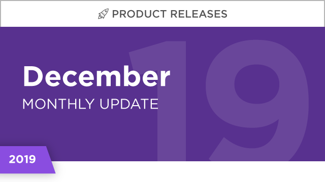 Product Releases: December 2019