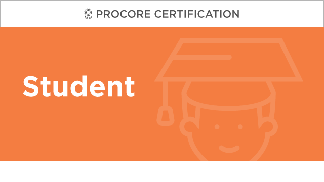 Procore Certification: Student
