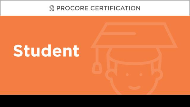 Procore Certification: Student