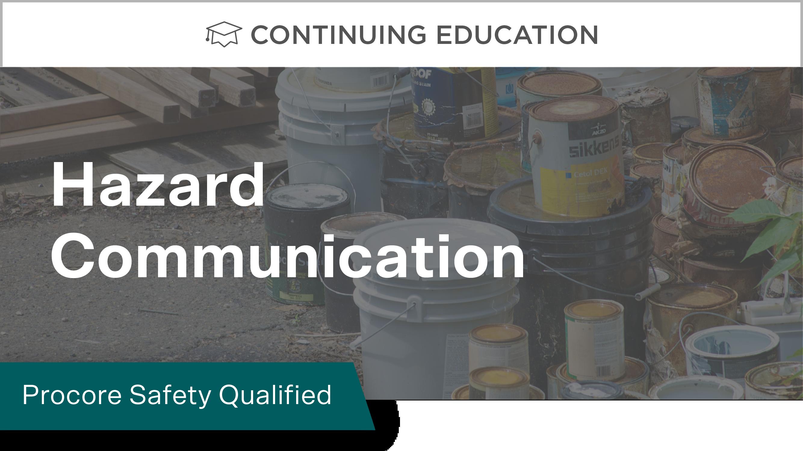 Procore Safety Qualified: Hazard Communication