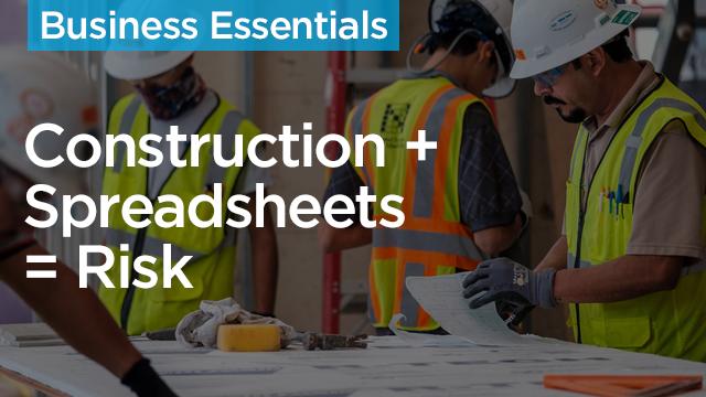 Construction + Spreadsheets = Risk