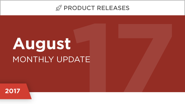 Product Releases: August 2017