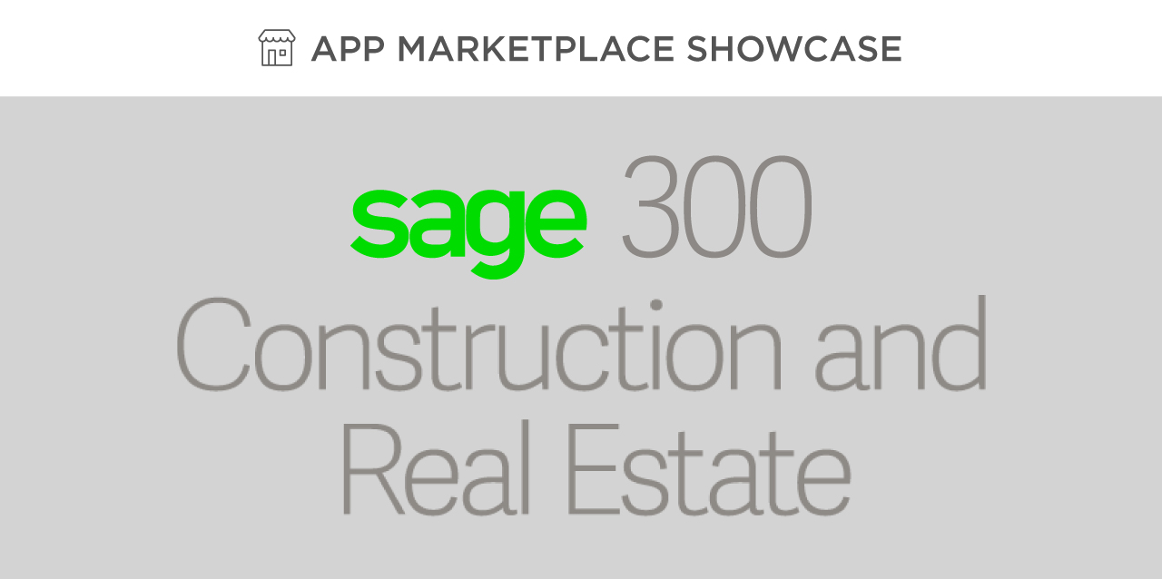 Sage 300 CRE®