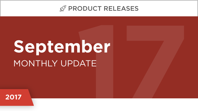 Product Releases: September 2017
