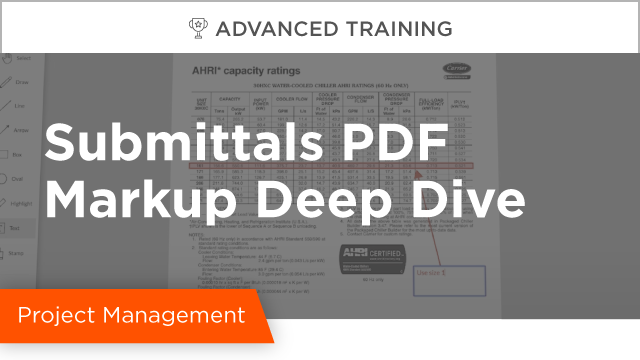 Submittal PDF Markup Deep Dive