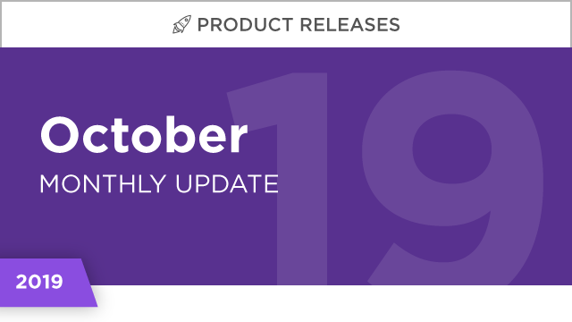 Product Releases: October 2019