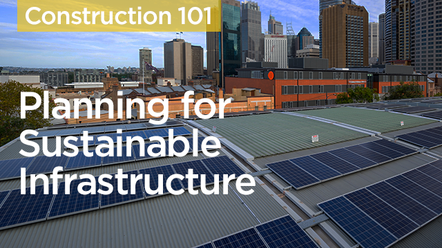 Planning for Sustainable Infrastructure