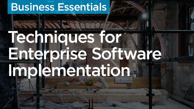 Software Implementation: Techniques for Enterprise Implementations