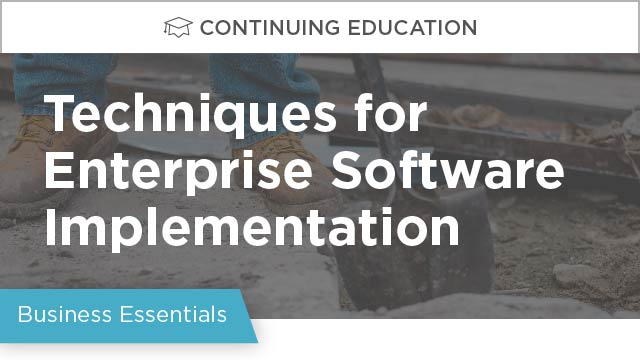 Software Implementation: Techniques for Enterprise Implementations