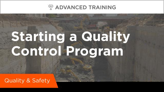 Starting a Quality Control Program