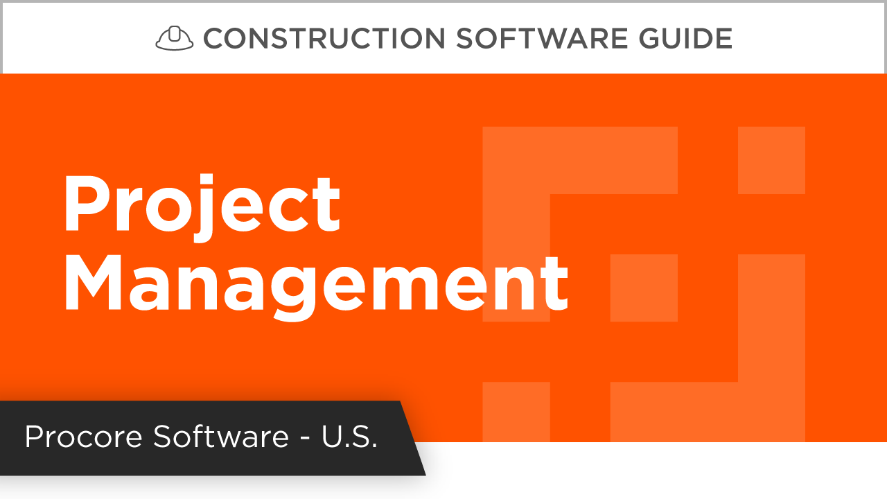 Procore Project Management Product