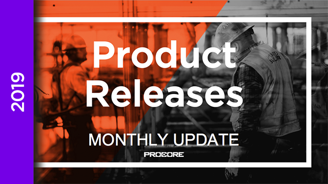 Product Releases: January 2019