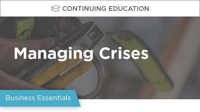 On-Demand GB2017: Managing Crises