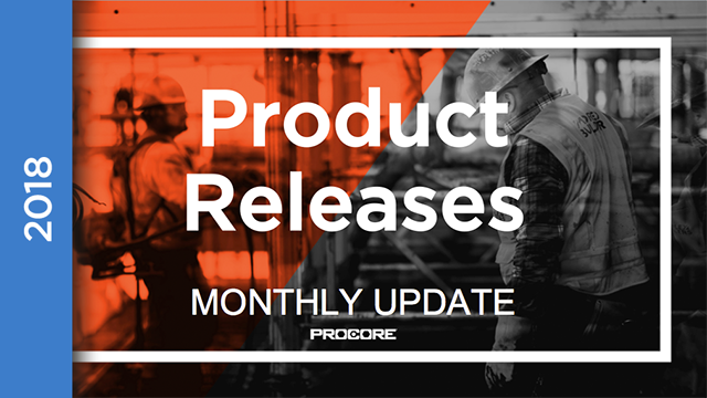 Product Releases: May 2018