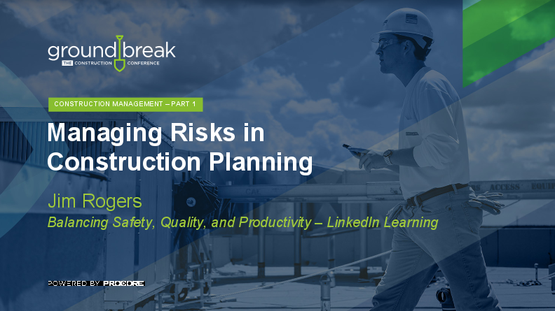On-Demand GB2017: Construction Project Management Training, Part 1