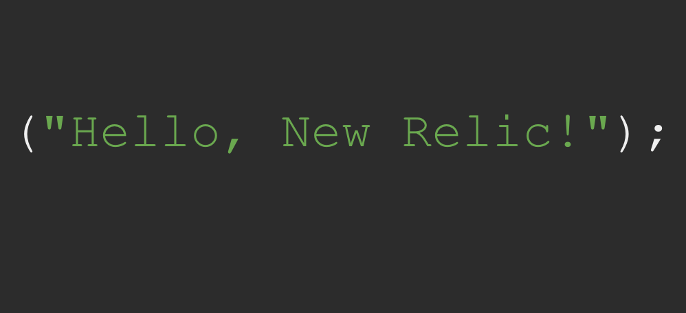 [Hands-on Lab] Hello, New Relic!