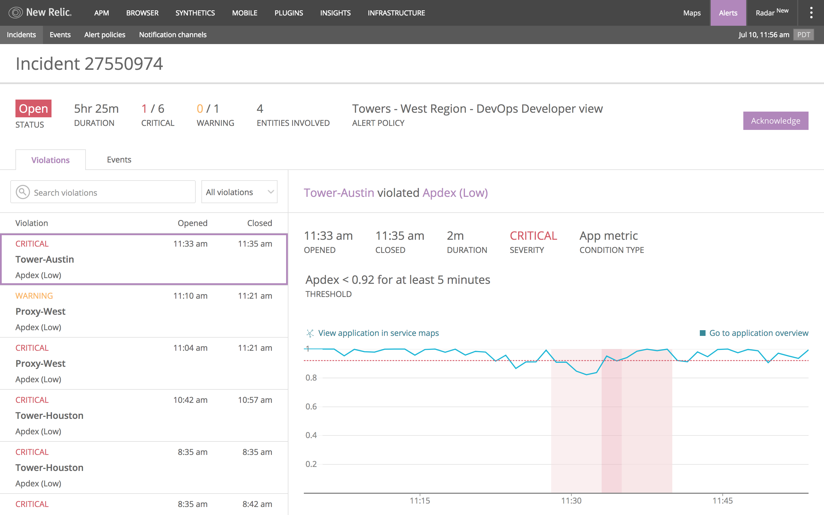 New Relic Alerting