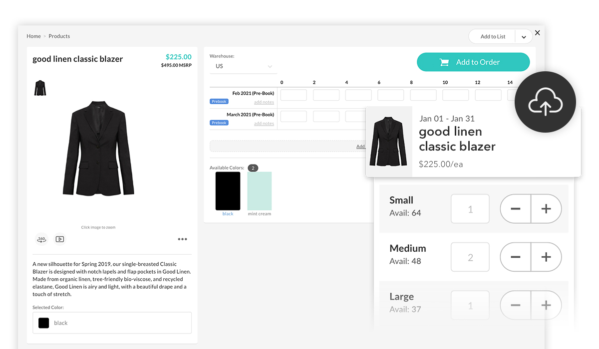 Caricare i dati dei tuoi prodotti su NuORDER