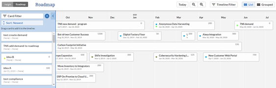 Changepoint SPM:  Create and Configure a Roadmap