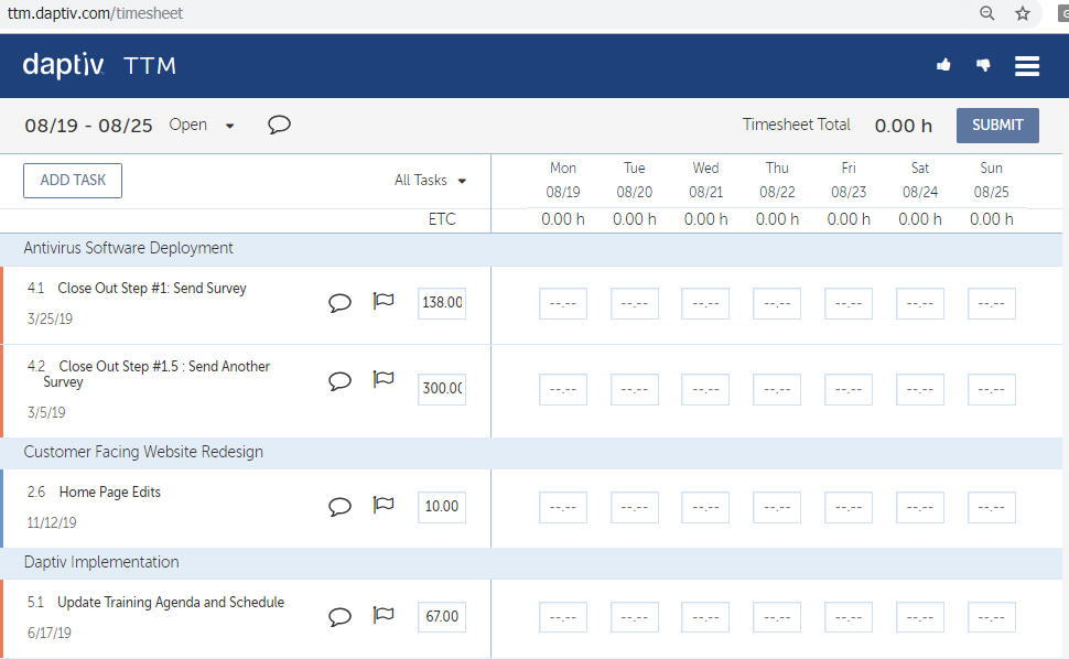 Changepoint PPM (Daptiv):  Using MOBILE Timesheets