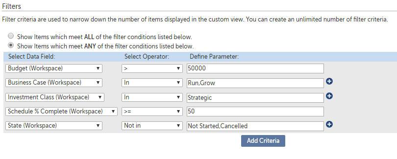 Changepoint PPM (Daptiv): Custom Views