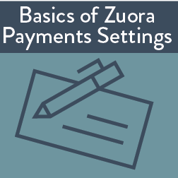 Basics of Zuora Finance Settings