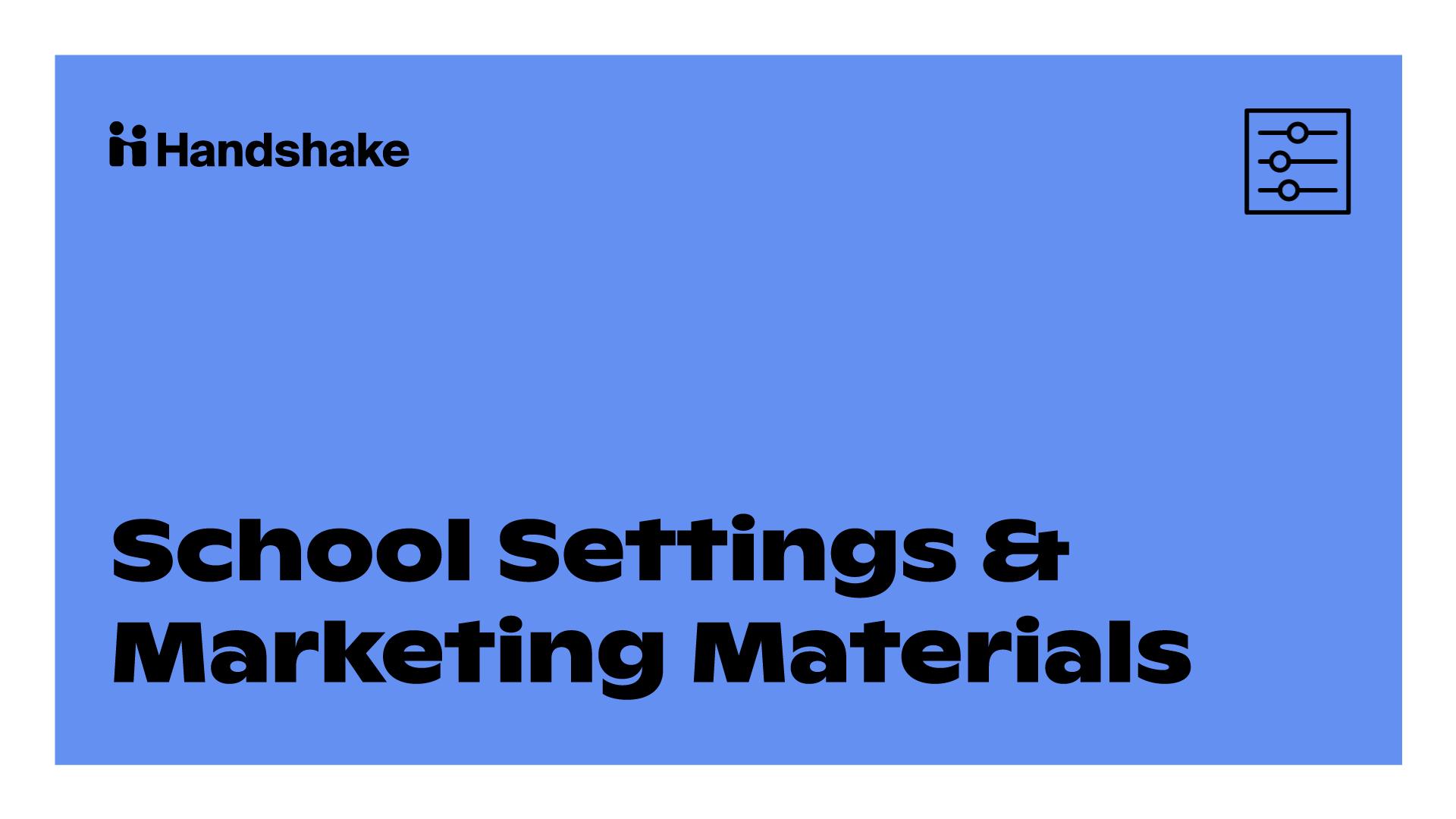 Milestone 3: School Settings & Marketing Materials
