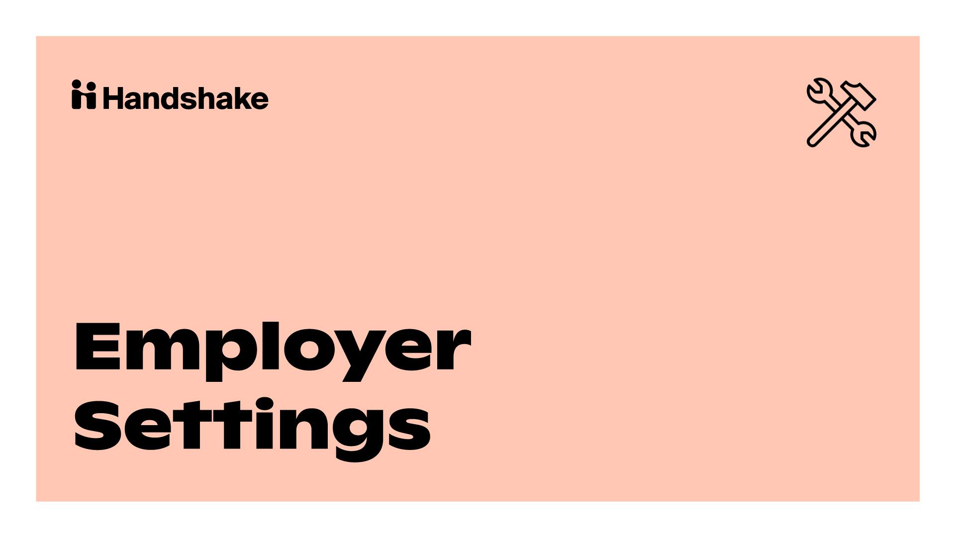Milestone 4: Employer Settings