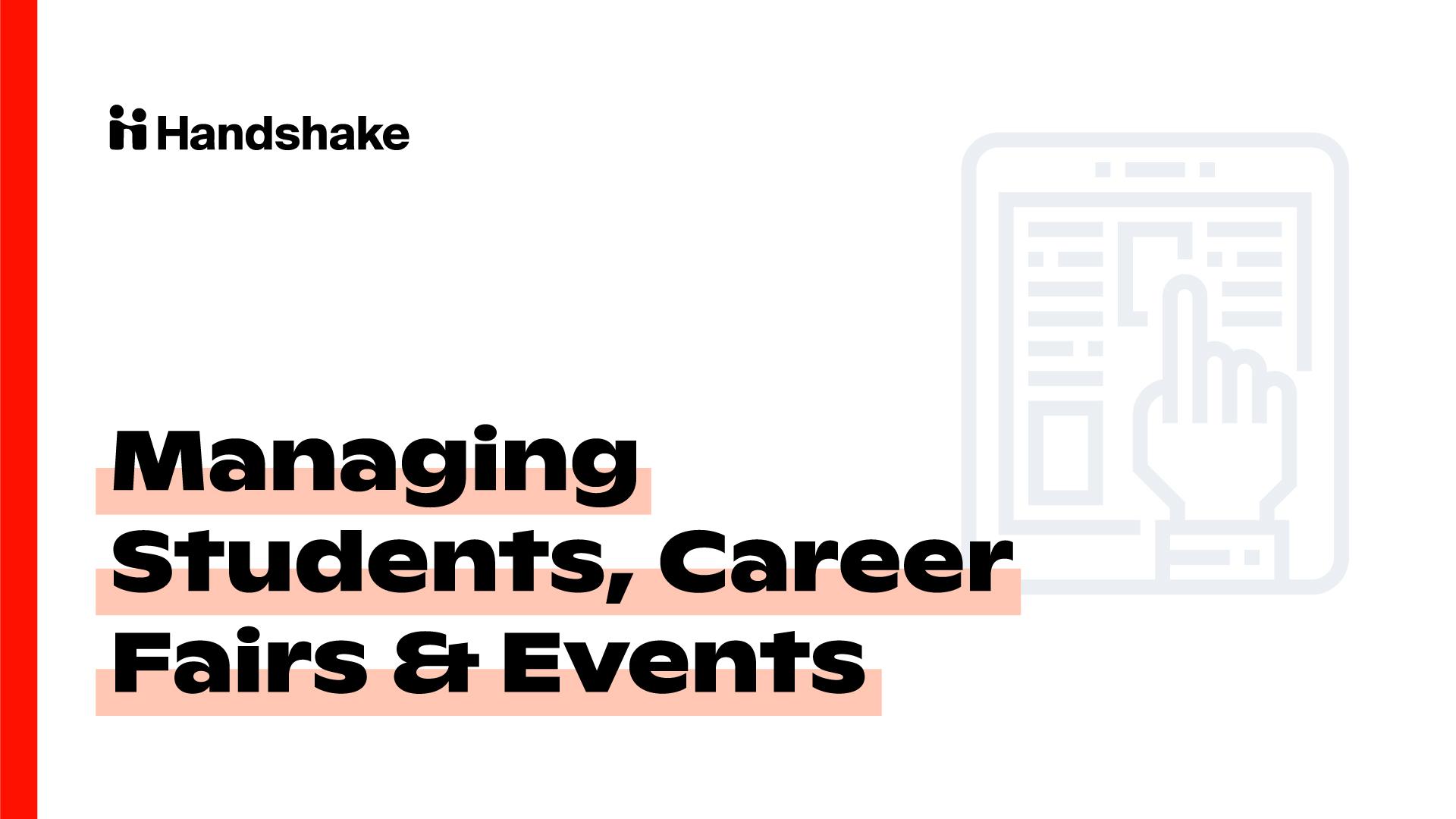 Milestone 5: Managing Students, Career Fairs & Events