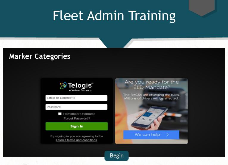 Fleet Admin - Marker Categories