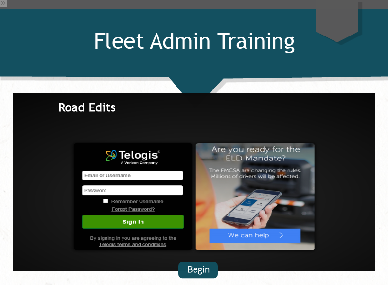 Fleet Admin - Road Edits