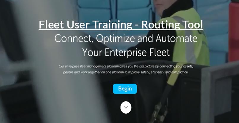 Fleet User - Map Tool - Routing