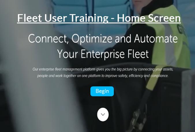 Fleet User - Home Screen