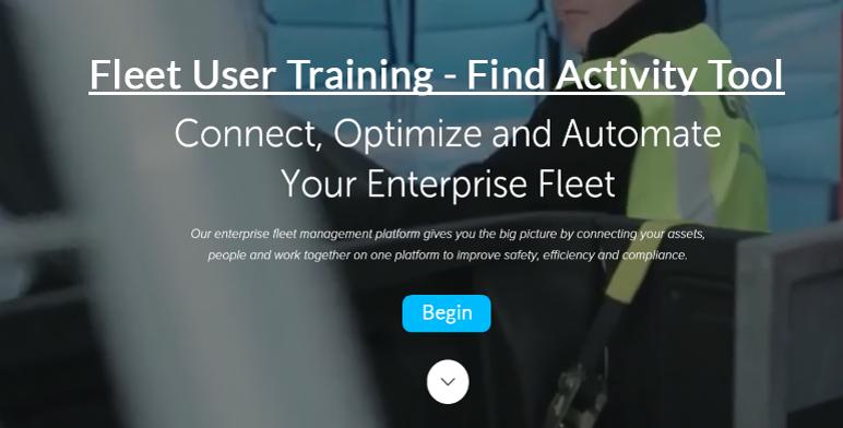 Fleet User - Map Tool - Find Activity