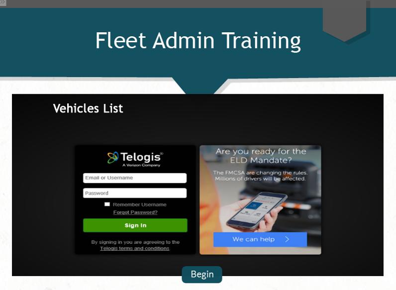 Fleet Admin - Vehicles List